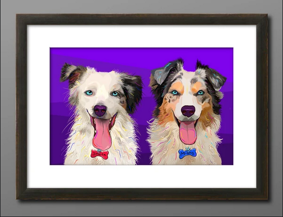 For the elaboration of the pet portraits, you must send the image of your pet that you want to see captured