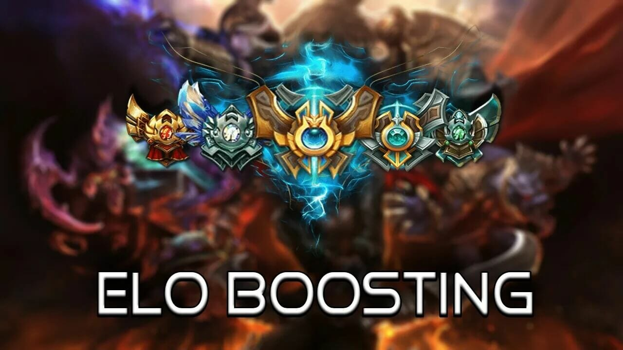 The league of legends boosting the game playing world